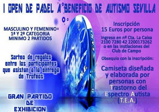 Tenorio Grupo a través de Ambulancias Tenorio cubrirá de manera altruista el I Open de Padel a Beneficio de Autismo Sevilla entre los días 8 y 12 de Octubre