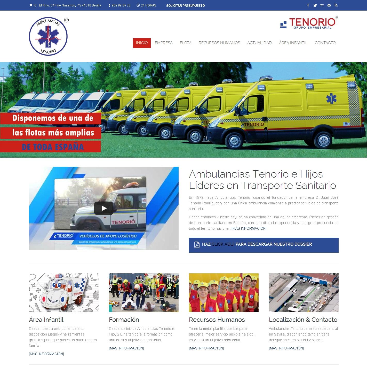 Estrenamos nueva web de Ambulancias Tenorio