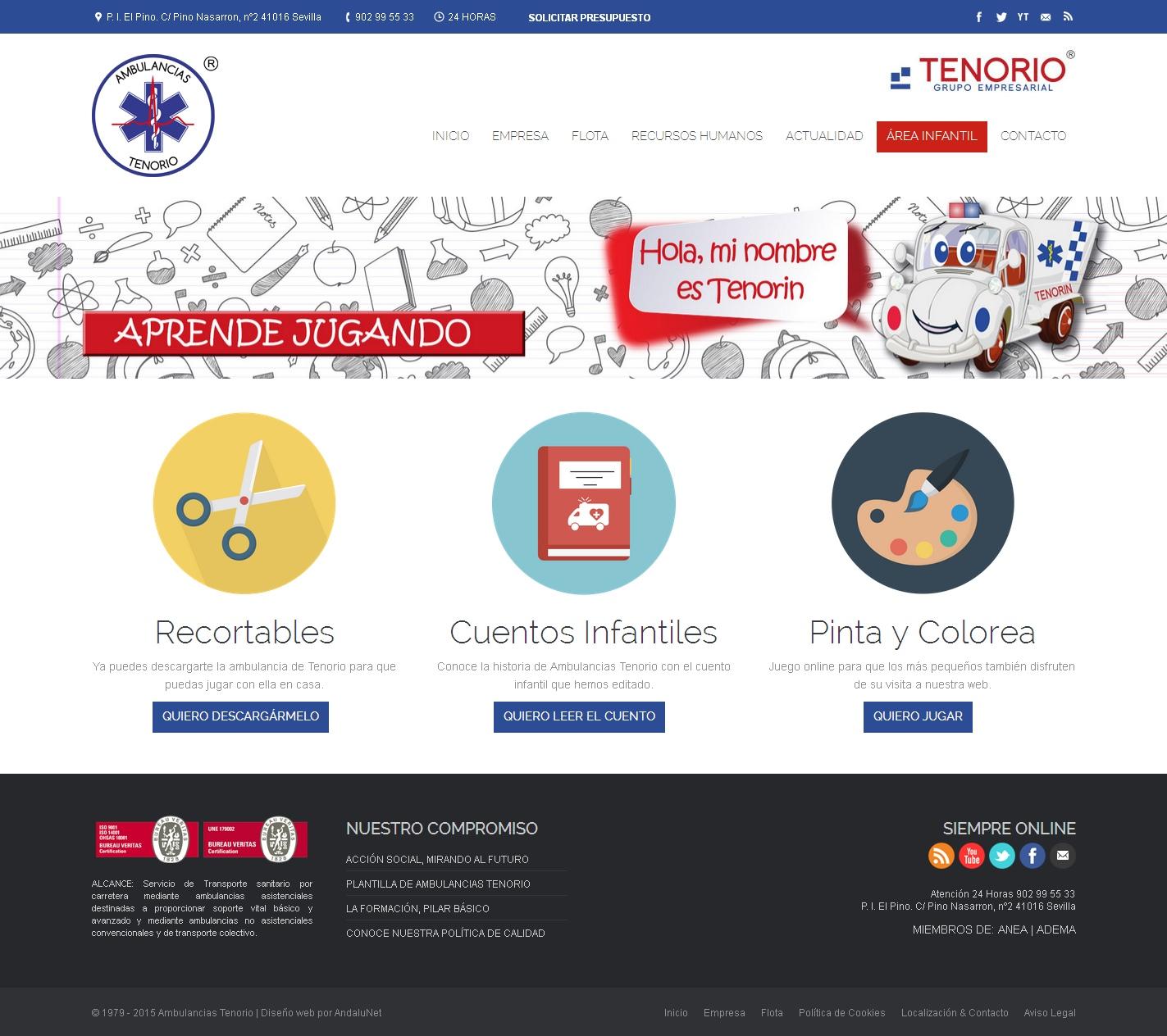Sorteo en Facebook. Apartado infantil nueva web Ambulancias Tenorio