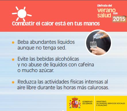 Consejos para protegerse del calor. Verano 2015