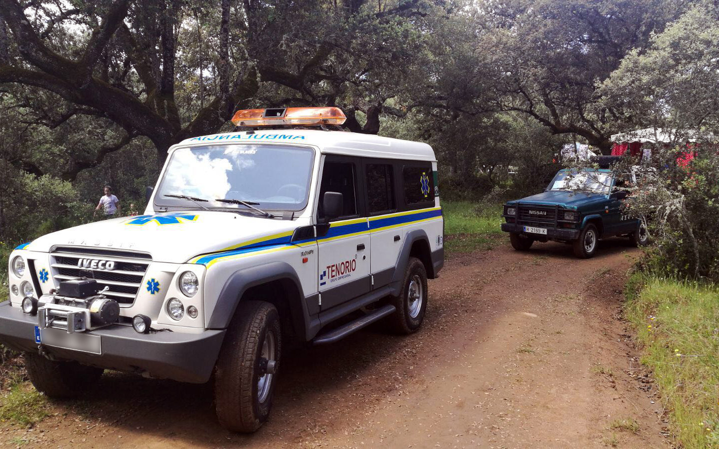 Ambulancias Tenorio en la Romería de Santa Eulalia Santa Olalla del Cala